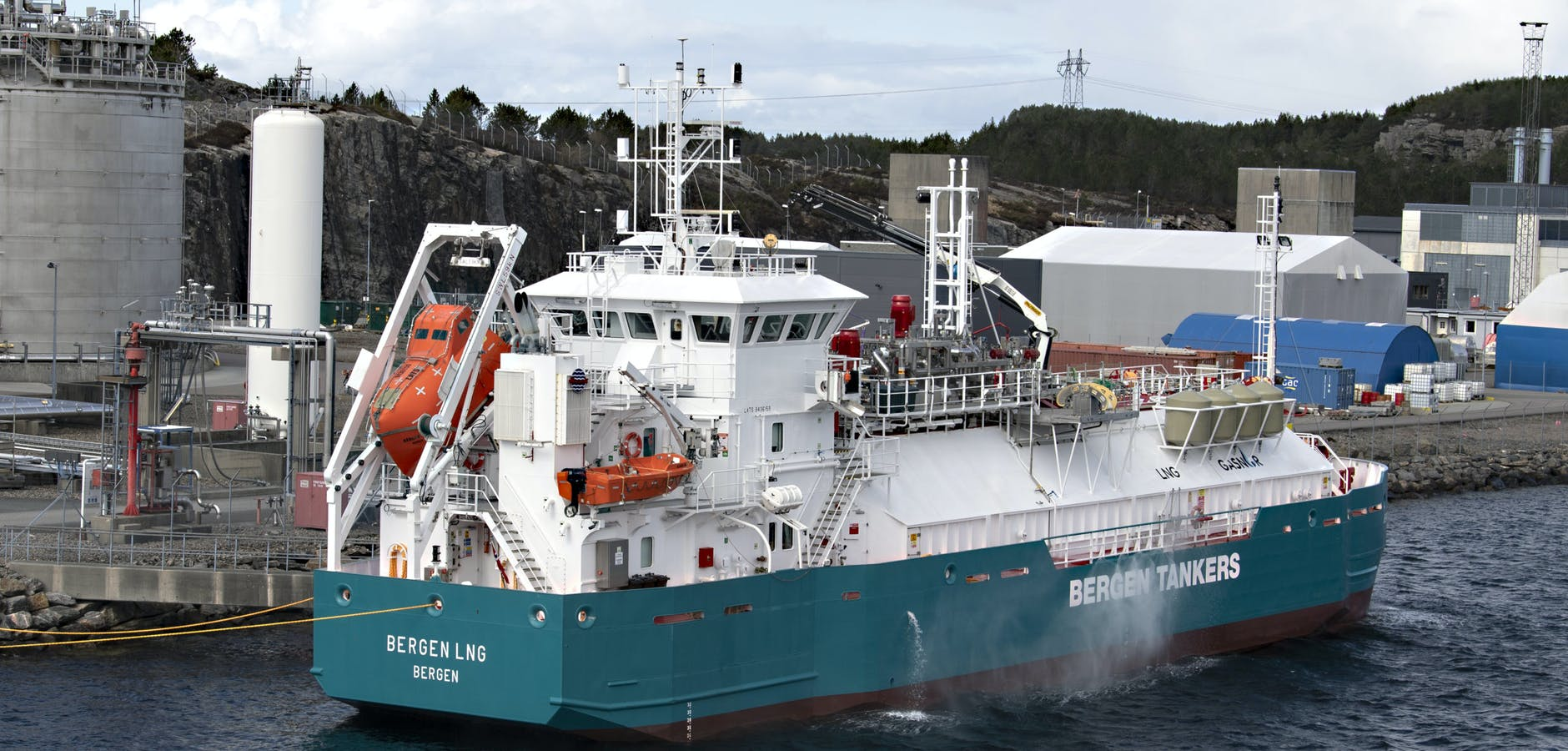 «Bergen LNG» til Gasnor er på Kollsnes.